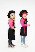 Комплект детский Latte Kids 5-7 лет | Фартук + Колпак + Нарукавники, фото 5
