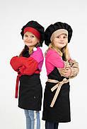 Комплект детский Latte Kids 5-7 лет | Фартук + Колпак + Нарукавники, фото 7
