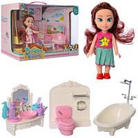 Мебель 8102A-B (12шт) кукла 15см, 2 вида(ванная комната, гостиная), в кор-ке,37,5-24-16см