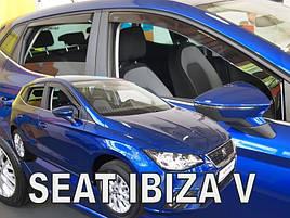 Дефлекторы окон (ветровики) Seat Ibiza 2017 -> 5D (вставные, кт - 4шт)