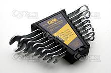 Набір ключів рожково - накидних CrV 8-19мм (8 шт.) СИЛА