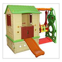 Детский игровой домик KINGKIDS (2020) с горкой и качелей