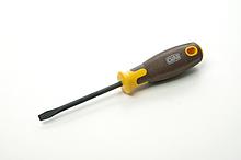Отвертка шлицевая композитная рукоятка CrV SL6x100мм (плоская) (вороненная) СИЛА