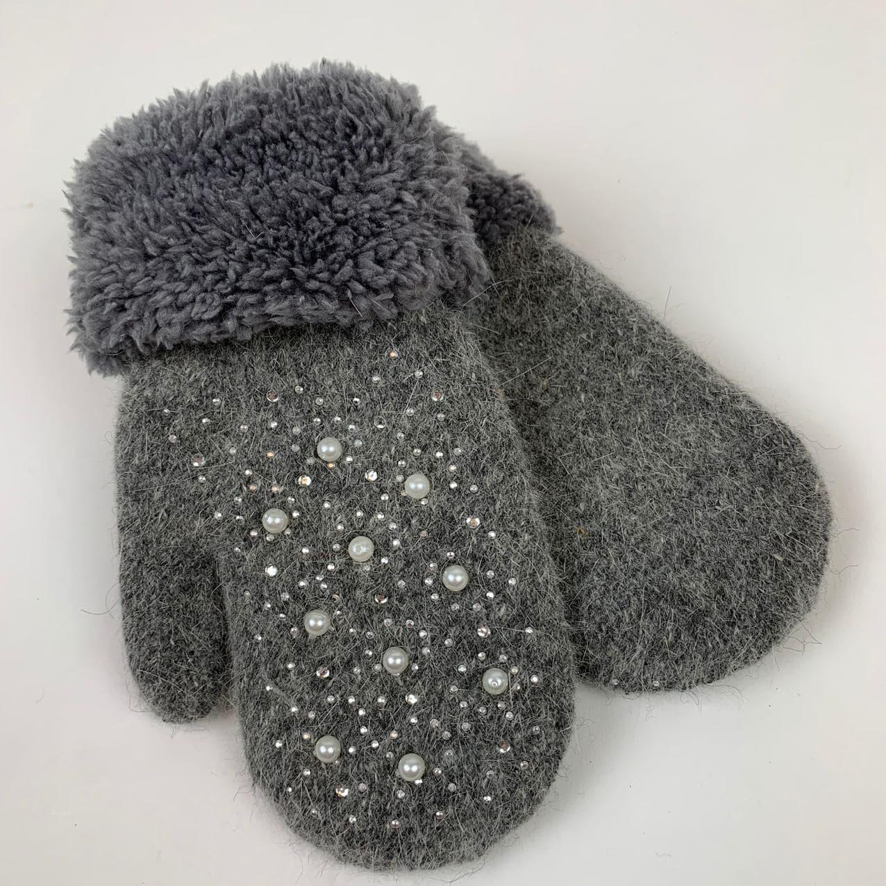 Зимние перчатки для сенсорного экрана ТМ Корона, бордовые, 331-7