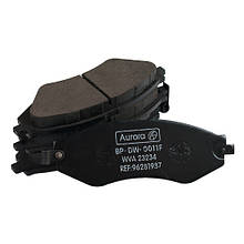 Колодка дискового тормоза передняя DAEWOO Lanos 1.6, Nubira 1.6-2.0, Lacetti 1.6-2 14' (комплект 4 шт) AURORA