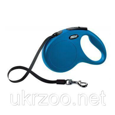 Поводок-рулетка для собак Flexi с лентой «New Classic» M 5 м / 25 кг (синяя) 11712