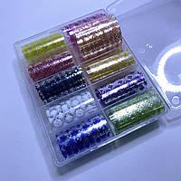 Фольга для дизайна ногтей  в контейнере 10шт  №101