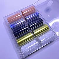 Фольга для дизайна ногтей  в контейнере 10шт  №105