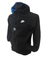 Мастерка (батник) трикотажная на замке с капюшоном Nike, 2-х нитка