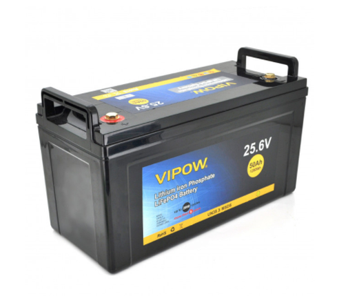 Аккумуляторная батарея Vipow LiFePO4 25,6V 50Ah со встроенной ВМS платой 40A, фото 2