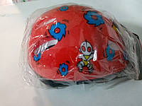 Детский защитный шлем MS0014 красно-синий