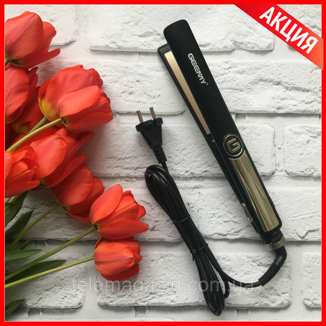 Плойка для волос Geemy GM-416 ОРИГИНАЛ выпрямитель  +  Подарок