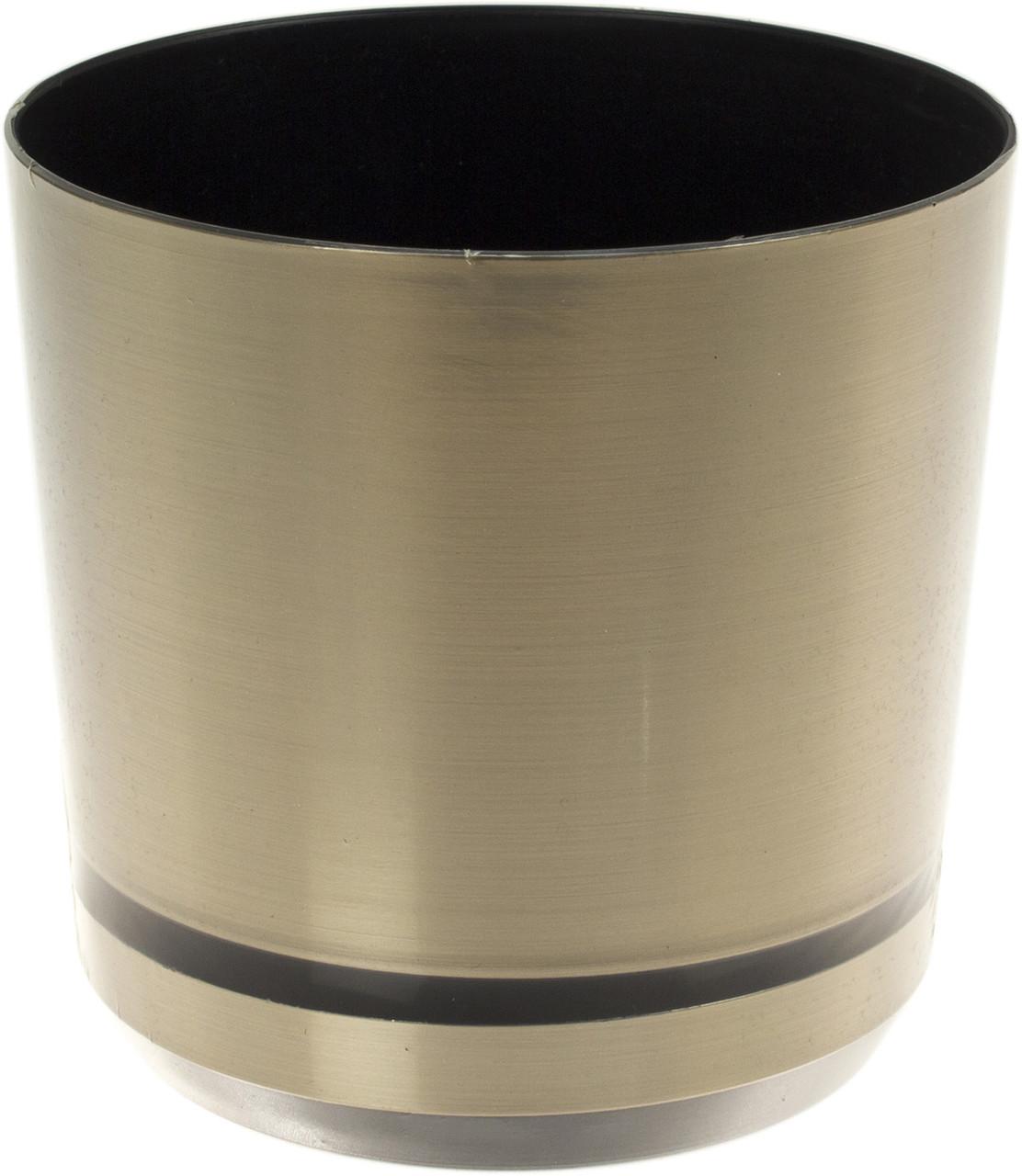 Горщик квітковий пластиковий d125мм-11/0735,v-1,4л срібло(10)