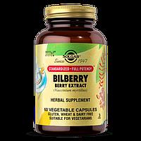 Витамины для глаз Solgar Bilberry Berry Extract (60 капс) солгар