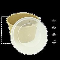 Пластиковая крышка КР 9,5 для крафтового супника 480 мл и 250 мл.(1 уп/50 шт), фото 1