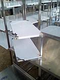 Полка 3 х ур. 1000х300х690 из 201 нержавеющей стали, фото 10