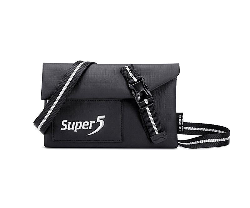 Небольшая сумочка через плечо, кошелек Super5 K00108, с двумя отделениями, из водоотталкивающей ткани, 0,5л