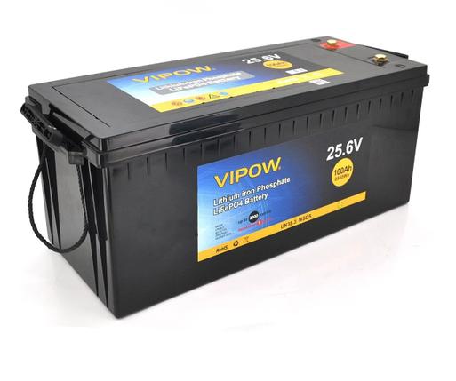 Аккумуляторная батарея Vipow LiFePO4 25,6V 100Ah со встроенной ВМS платой 80A, фото 2