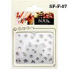 Глиттерные Самоклеющиеся 3D Наклейки для Ногтей Nail Sticrer SF-F-07 Белые Цветы, Декор Ногтей, фото 2