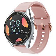 Ремешок 20 mm Samsung Galaxy Watch Active 42mm, Gear S2, Gear Sport,  Розовый силикон