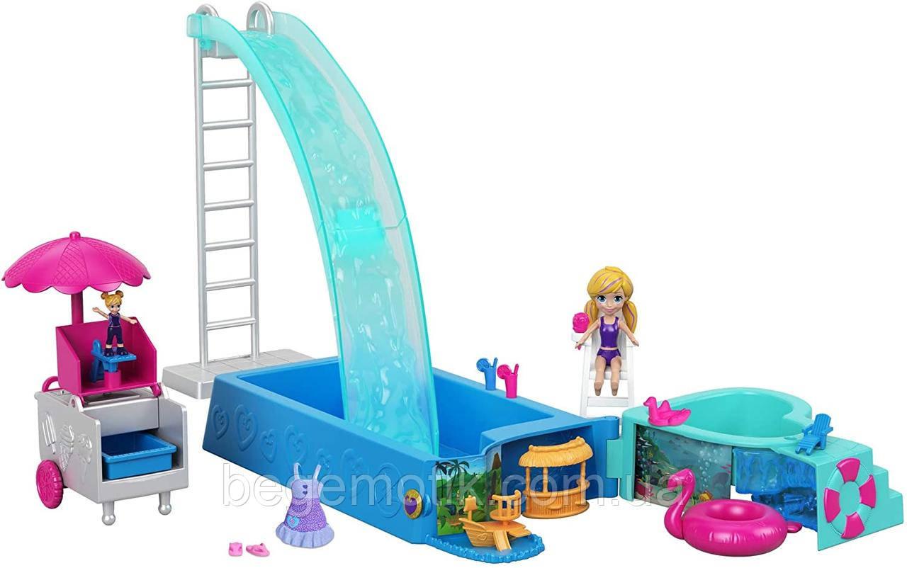 Игровой набор Полли Покет Сюрприз в бассейне Polly Pocket Splashtastic Pool Surprise FTP75