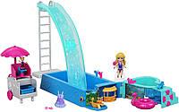 Игровой набор Полли Покет Сюрприз в бассейне Polly Pocket Splashtastic Pool Surprise FTP75, фото 1