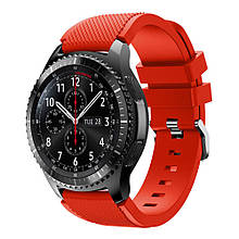 Ремешок Samsung Gear S3 Frontier, Classic 22mm, красный браслет для часов, AL1765-35