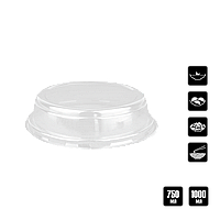 "Крышка ""Ю"" КР15 для салатника 750мл 1уп/50шт (1ящ/200шт), фото 1"