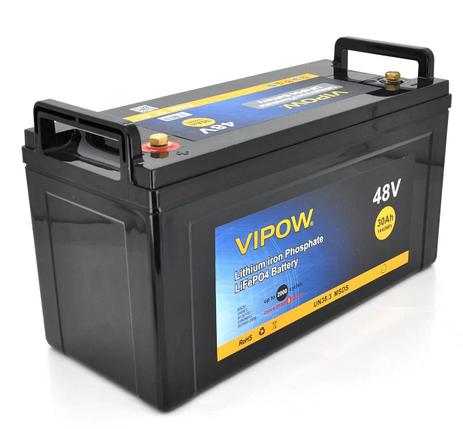 Аккумуляторная батарея Vipow LiFePO4 51,2V 30Ah со встроенной ВМS платой 40A, фото 2