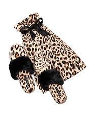 Атласные тапочки в мешочке леопард Victoria's Secret p.S (35-36)