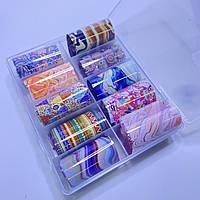 Фольга для дизайна ногтей  в контейнере 10шт  №106
