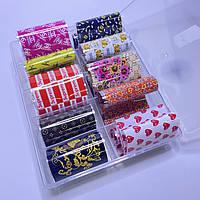 Фольга для дизайна ногтей  в контейнере 10шт  №107