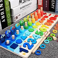 Детская деревянная развивающая игрушка геометрика Монтессори подарок для мальчика и девочки