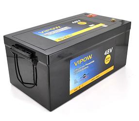 Аккумуляторная батарея Vipow LiFePO4 51,2V 50Ah со встроенной ВМS платой 40A  для солнечных панелей