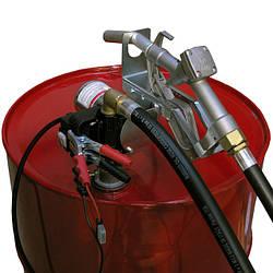 Вузол для заправки і перекачування дизельного палива з бочки Drum Tech 12В, 40 л/хв