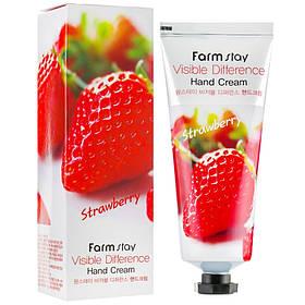 Крем для рук с клубникой Farmstay Visible Difference Hand Cream Strawberry 100 мл (8809636280464)