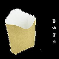 Конверт для картофеля фри (крафт) 370мл 133*127*87*44 ,уп/50шт, фото 1