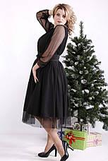 Черное платье с пышной юбкой больших размеров, фото 2