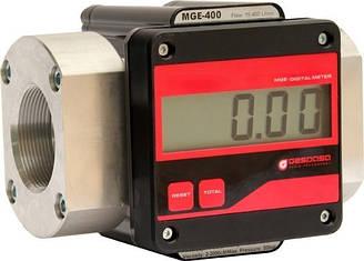 MGE 400 - електронний витратомір обліку великого потоку дизельного палива, масла, 15-400 л/хв