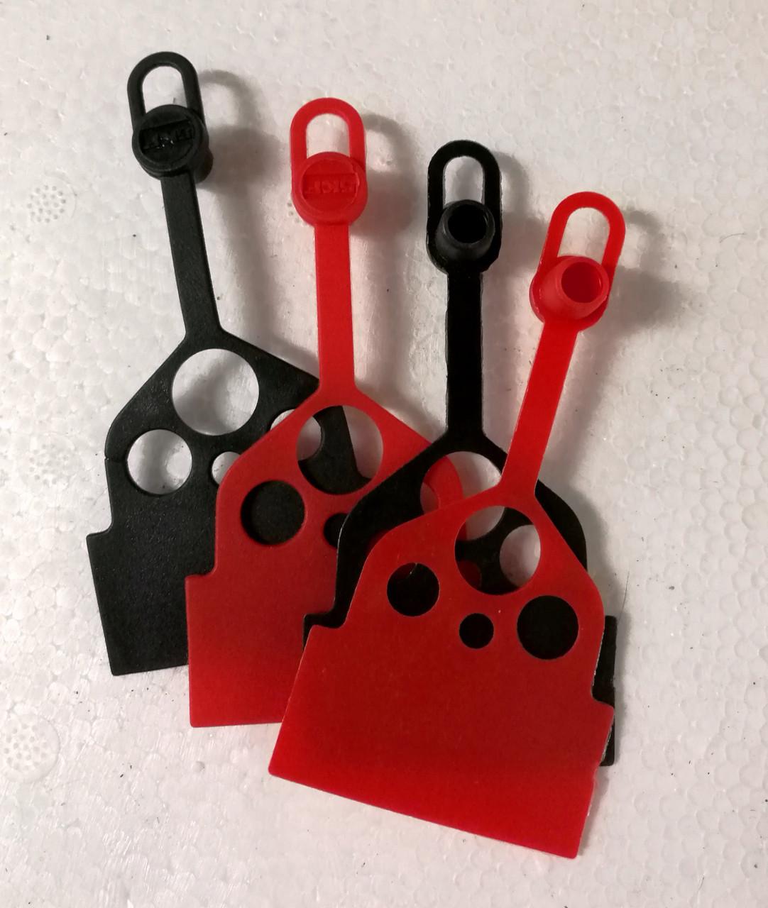 Набір пластикових ковпачків для прес-маслянок GROZ CAP/GFT/RD/ST-50 (Червоні)