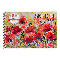 "Альбом для акварели SANTI ""Botanic"", А5, ""Paper Watercolour Collection"", 12 л, 200г/м2"