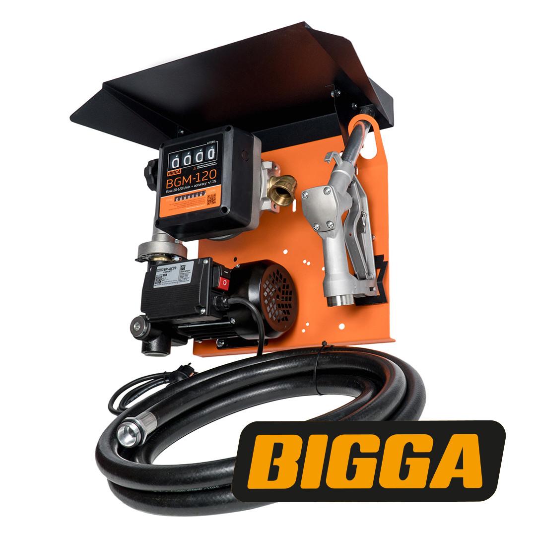 Bigga Gamma AC-70 – стаціонарна міні колонка для заправки техніки паливом. Живлення 220 В. Витрата 70 л/хв
