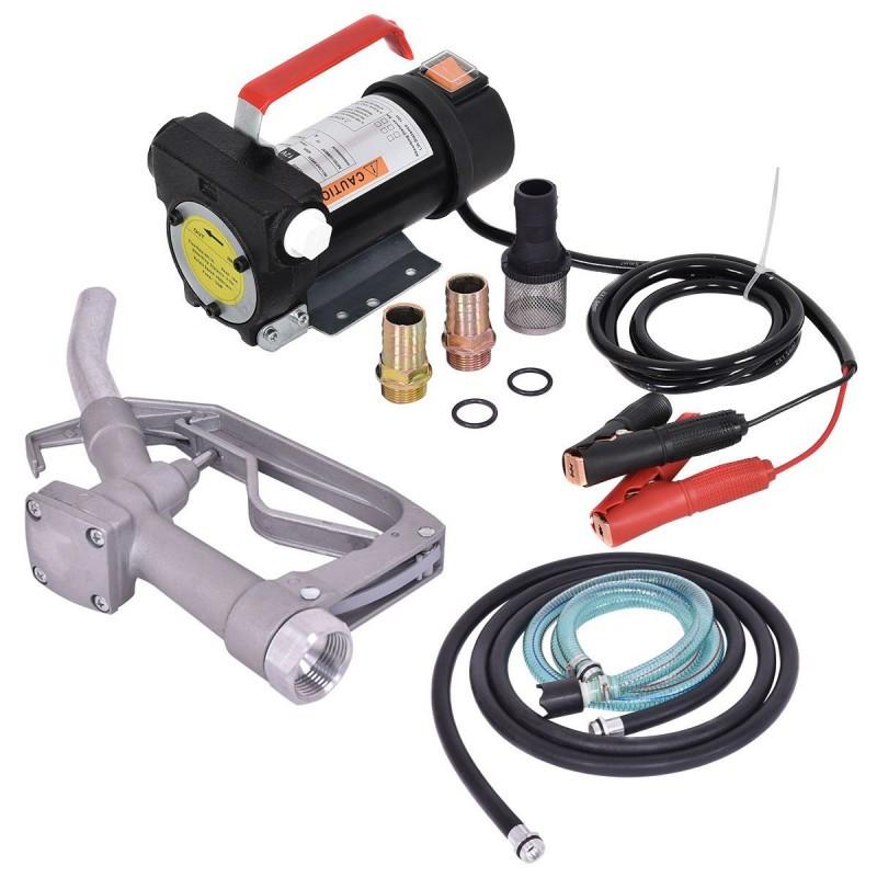 Установка для перекачки ДТ REWOLT RE SL001B-12V (насос, топливный пистолет, шланги) 12в 50л/мин