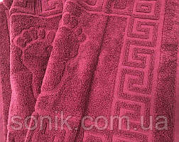 Полотенце-коврик Ножки вишня 45х70