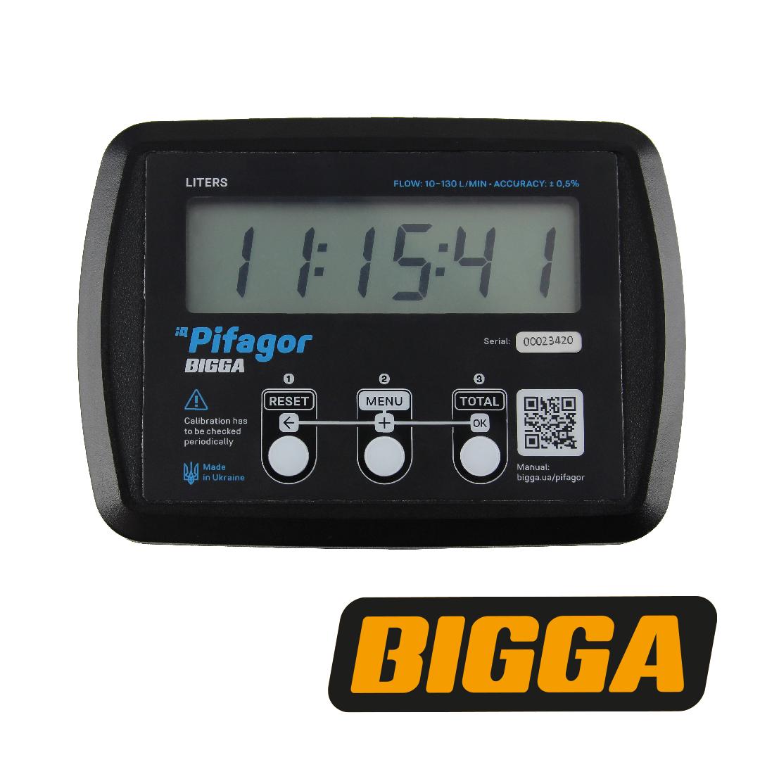Електронний лічильник палива, легких масел - Pifagor, 10-130 л/хв (BIGGA)