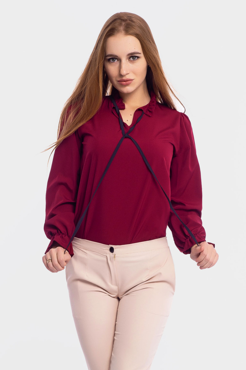 S, M, L, XL   Молодіжна жіноча блузка Nataly, марсала