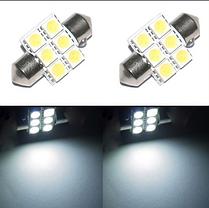 Светодиодная лампа для салона авто белый супер яркий 31 мм 5050 СМД 6 из светодиодов, фото 2