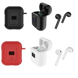 Беспроводные Bluetooth наушники BT Hoco S11 силиконовый кейс, дисплей, блютуз стерео гарнитура