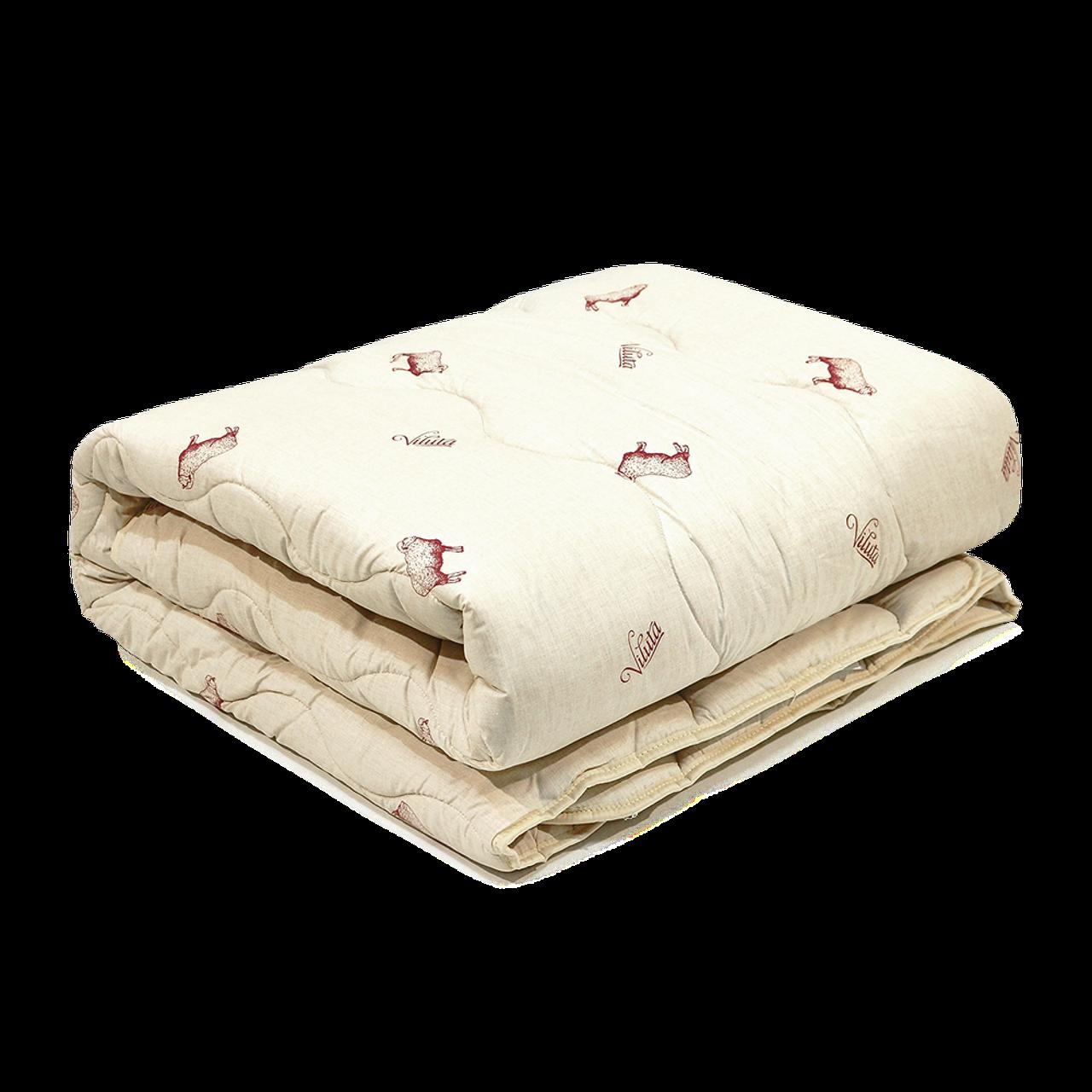 Одеяло шерстяное Полуторное стеганное Premium 140х205 Полуторное одеяло Осень Зима