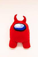 Мягкая красная детская игрушка космонавт Амонг Ас, персонаж из игры Among Us, 35см